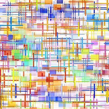 Abstract multicolored striped and checkered pattern. by IaroslavB