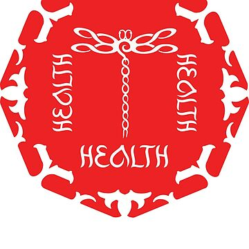 """Root Chakra """"Health"""" Figure Eights Dragonfly red, white by StrollThruDream"""
