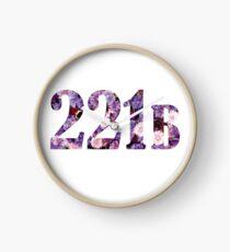 Floral 221B Clock