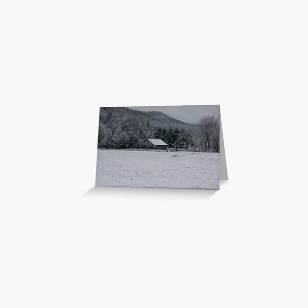 Winter in the Appalachian Mountains Greeting Card