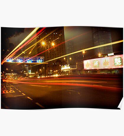 Central lights. Poster