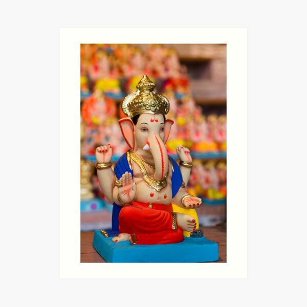 Moods of Lord Ganesh #4 Art Print