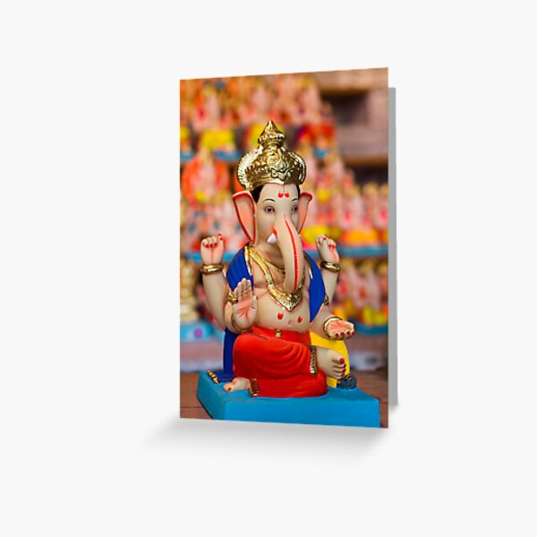 Moods of Lord Ganesh #4 Greeting Card