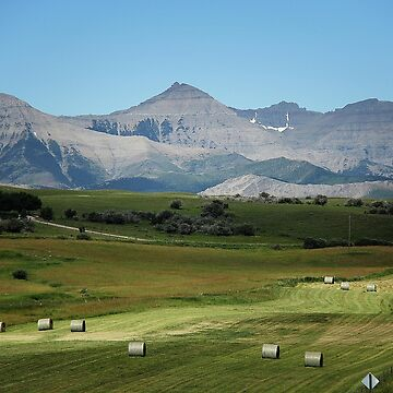 Farming, Foothills and Mountains by DiamondWillow