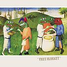 Medieval Pepe The Frog Libertarian Ancap Text FREE MARKET with Kekistanis trading together Rare PepetheFrog Renaissance HD by iresist