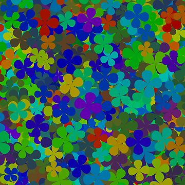 Multicolored four leaf clovers by nopemom