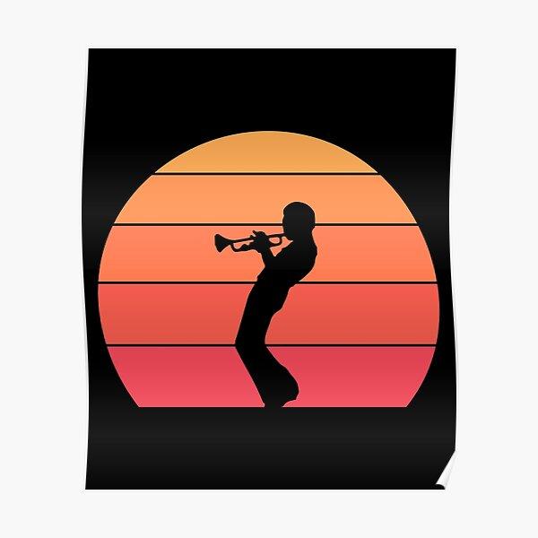 Miles Davis - Trompette Sunset Poster