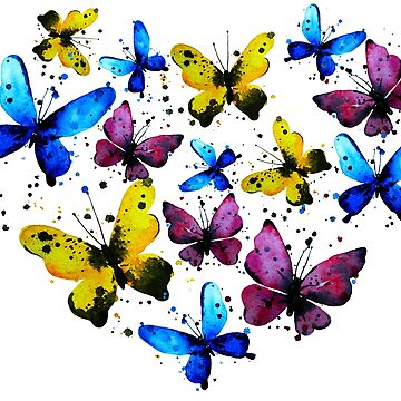 Butterfly heart, valentine illustration. Element for design by ativka