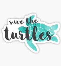 Rette die Schildkröten Sticker