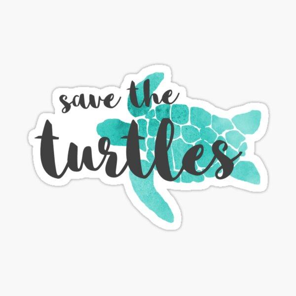 Save the Turtles Sticker
