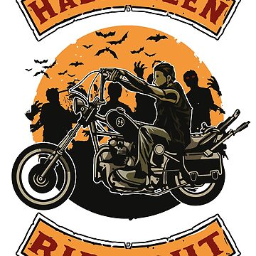 Halloween-Chopper Motorcycle Zombies by broadmeadow