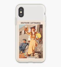 Luftreisen.. Vintage Lufthansa Ad.. circa 1930 iPhone Case