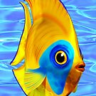 Tropical Fish on Clear Ocean Water 3D by BluedarkArt