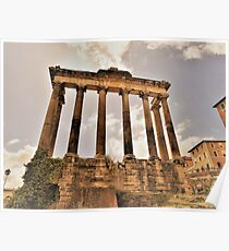 The Temple Of Saturn.............................Rome Poster