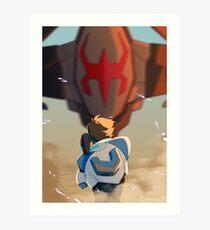Lance vs Galra Ship Art Print