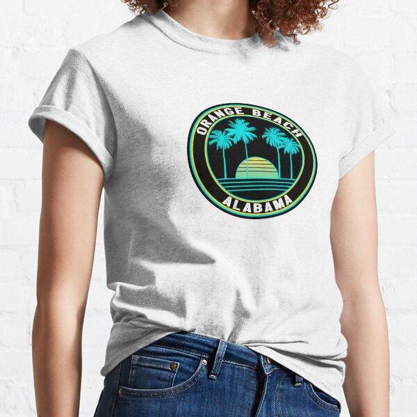 Gulf Shores Living Palm Tree Beach Womens Kids T-Shirt Tee