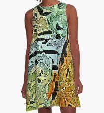 Markierungen A-Linien Kleid