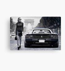 Miss Ferrari Testarossa Canvas Print