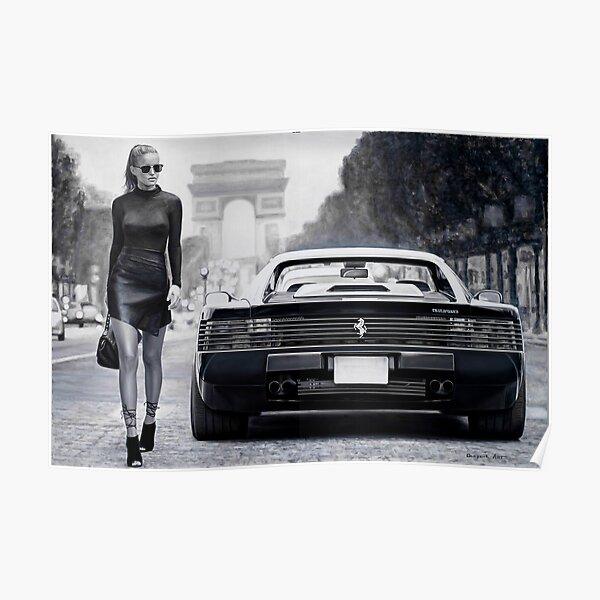 Mlle Ferrari Testarossa Poster