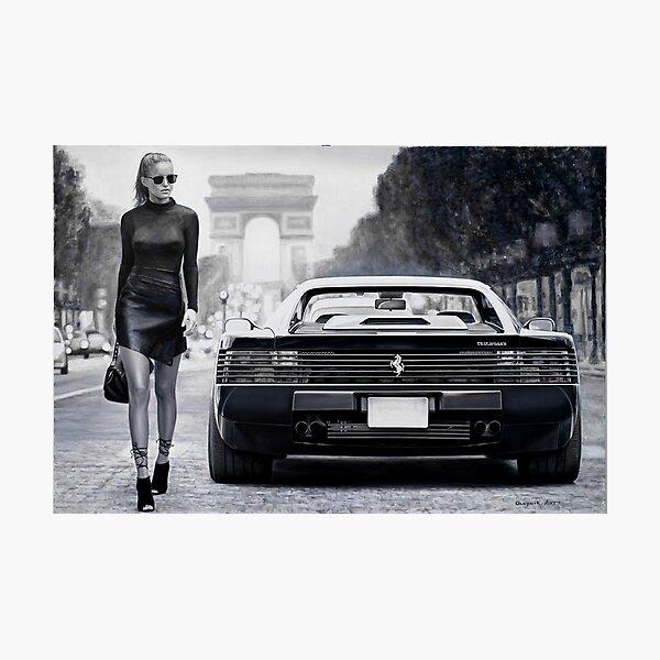 Miss Ferrari Testarossa Photographic Print