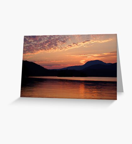 Ruby Lake Sunset Greeting Card