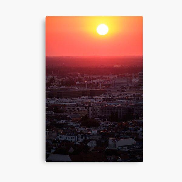 Sunset over Berlin Canvas Print