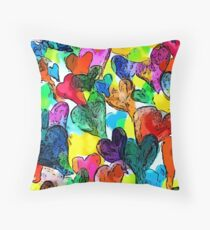 Andrew Hearts Throw Pillow
