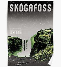 Iceland: Skogafoss Poster