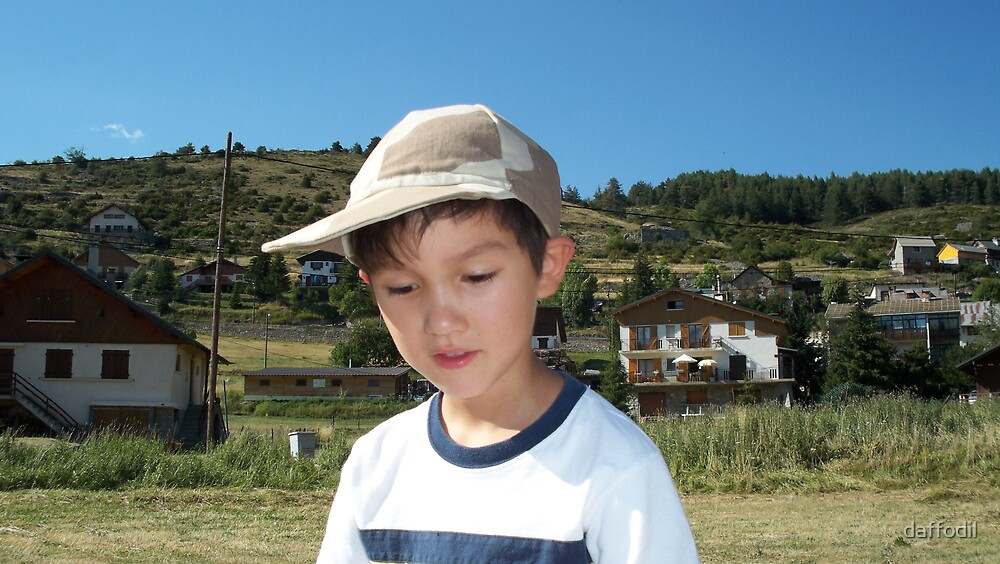 My grandson at the mountains by daffodil