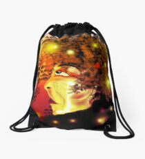 The Smell of the Crowd and the Roar of the Greasepaint Drawstring Bag