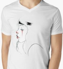 clown girl Men's V-Neck T-Shirt