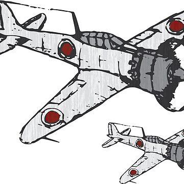 Mitsubishi A6M ZERO by quark