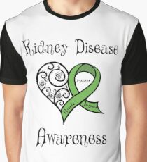 Kidney Disease Awareness Personalized Graphic T-Shirt