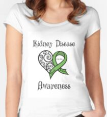 Kidney Disease Awareness Personalized Women's Fitted Scoop T-Shirt