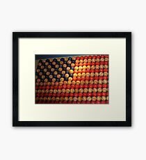 Stars and Stripes baseball style..... Framed Print