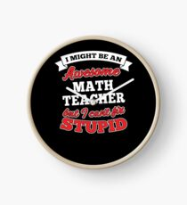MATH TEACHER T-shirts, i-Phone Cases, Hoodies, & Merchandises Clock