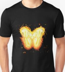 Butterfly insect burning Unisex T-Shirt
