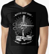 Chop Shop Gods of Grooming Men's V-Neck T-Shirt