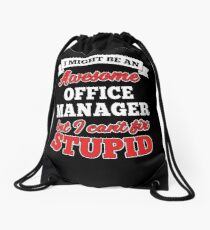 OFFICE MANAGER T-shirts, i-Phone Cases, Hoodies, & Merchandises Drawstring Bag