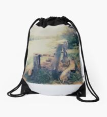 log lounge Drawstring Bag