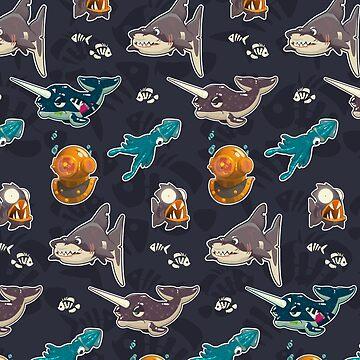 Spooky Sea Vector Pattern by msharris22