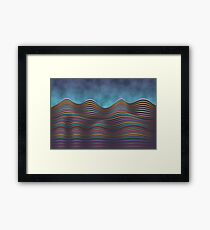 The Rolling Hills Of Subtle Differences Framed Print