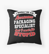 PACKAGING SPECIALIST T-shirts, i-Phone Cases, Hoodies, & Merchandises Throw Pillow