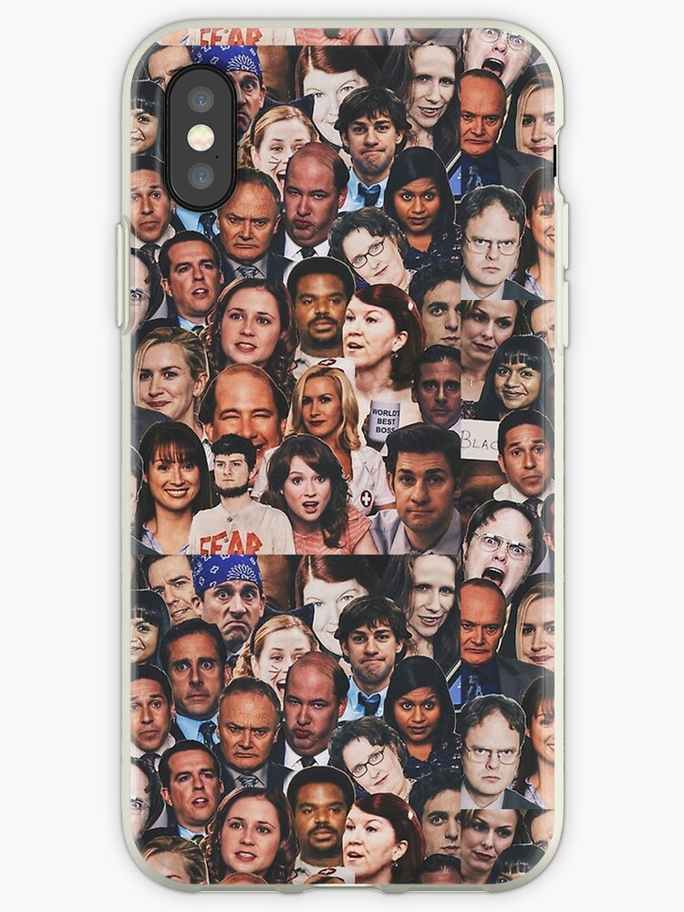 low priced 4d474 d6584 'The Office Faces Collage' iPhone Case by Michael Scott