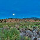 Moon over the desert by Eyal Nahmias