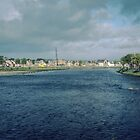 River Ness from New Bridge Inverness Scotland 198409190001M  by Fred Mitchell