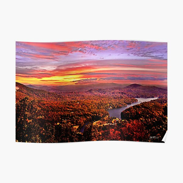 """Chimney Rock Sunrise"" Poster"