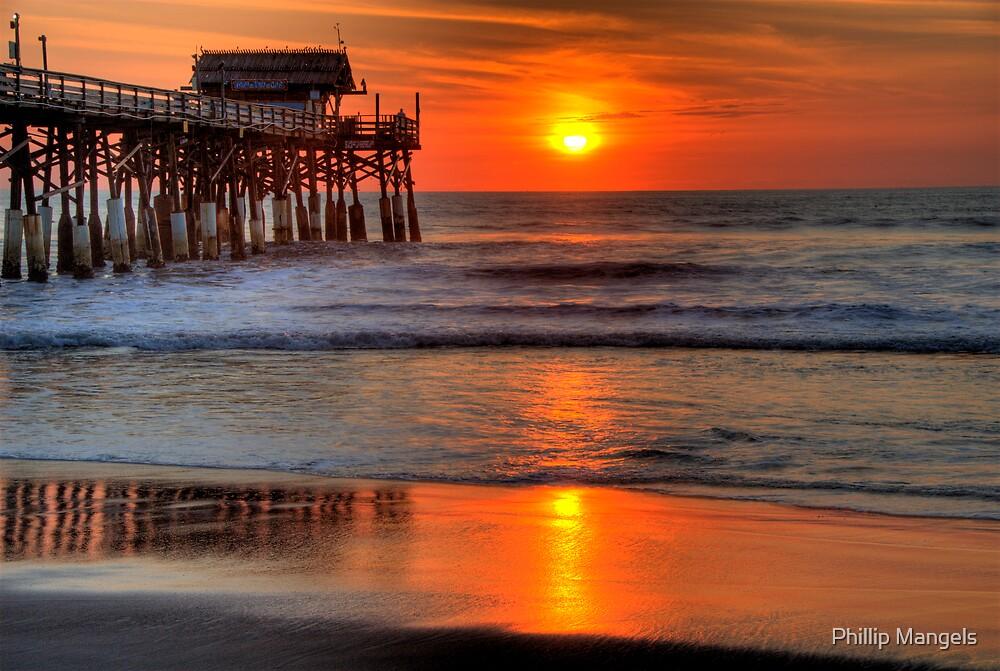 Quot Cocoa Beach Pier At Sunrise Quot By Phillip Mangels Redbubble