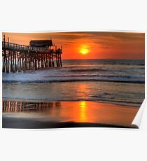 Cocoa Beach Pier at Sunrise Poster