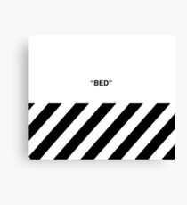 OFF-WHITE BED Canvas Print